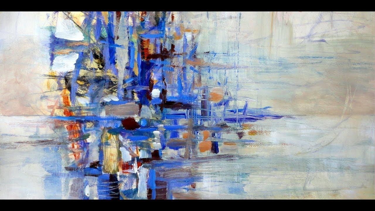 Acrylmalerei Abstrakt Folientechnik Gerda Lipski Acrylmalerei