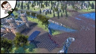 Massive 30000 Orc v Medieval Army Survival Siege - Ultimate Epic Battle Simulator Gameplay