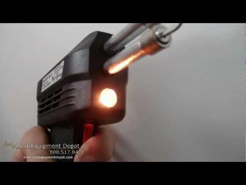 amputee technician operating soldering gun doovi. Black Bedroom Furniture Sets. Home Design Ideas