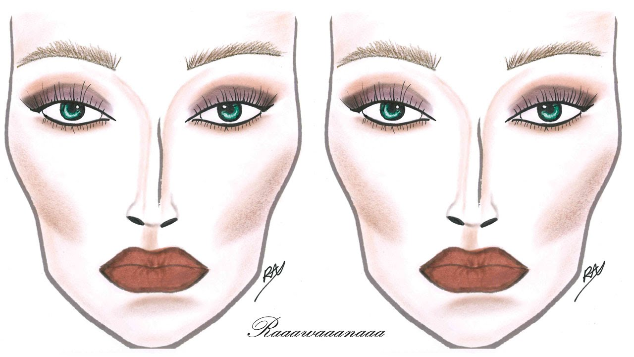 How to face chart makeup tutorial youtube