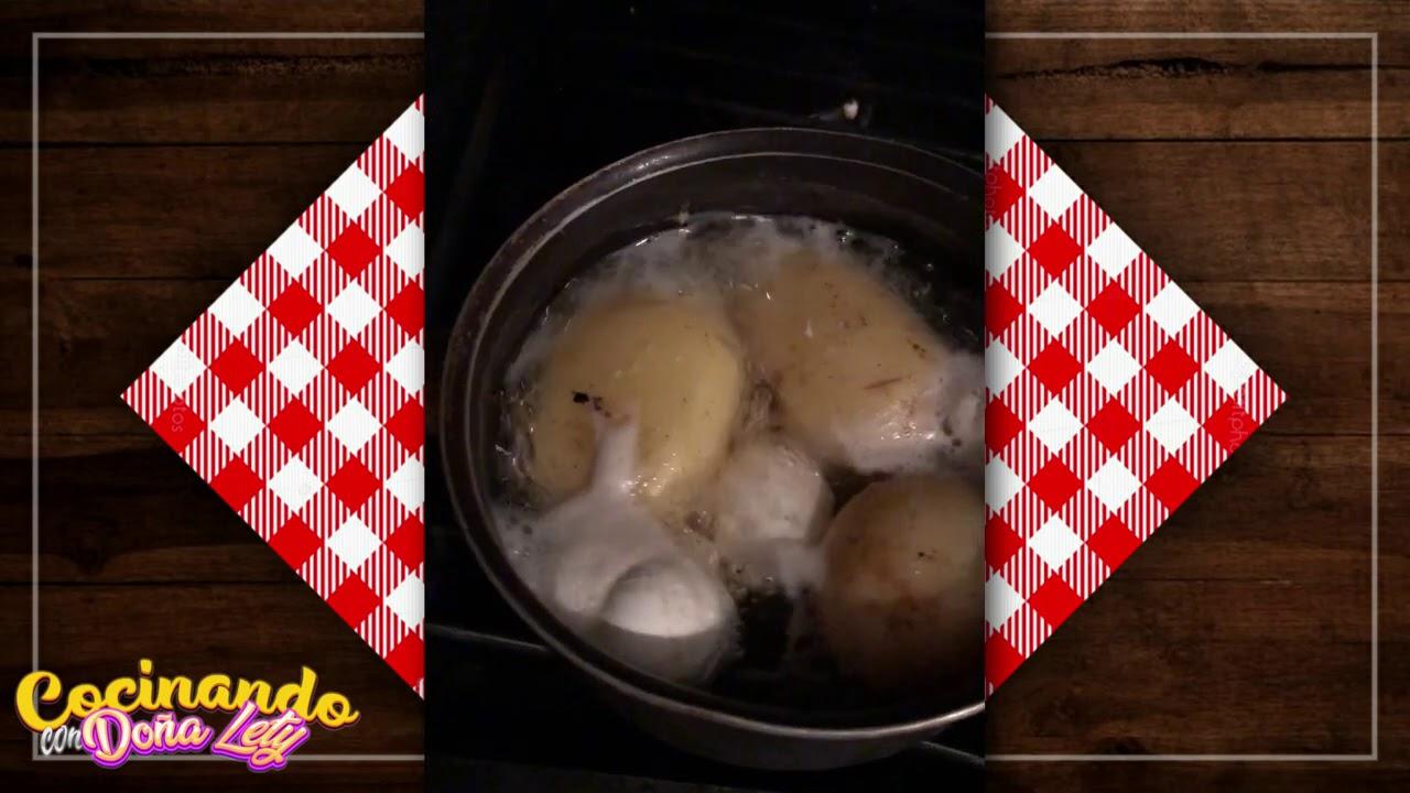 Ensalada de papa Cocinando con Doña Lety Video Express