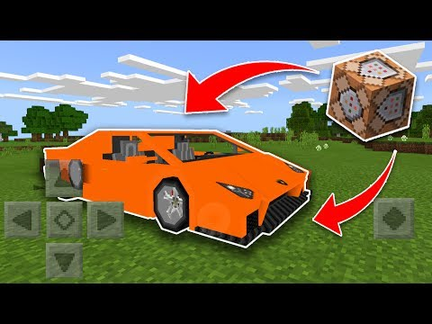 WORKING CAR Using COMMAND BLOCKS in Minecraft (Pocket Edition, Addon)