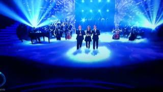 Woman Intrudes on BGT Stage to Throw Eggs at Simon Cowell! Britains Got Talent 2013 Richard and Adam