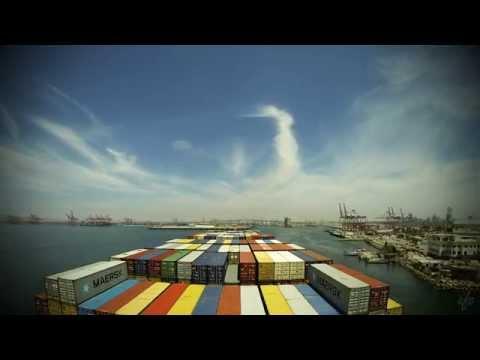 Time-lapse (60x): arrival Long Beach (CA, USA) [4K / UHD]