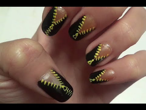 Funky Zip Nail Art Design Do It Yourself Youtube