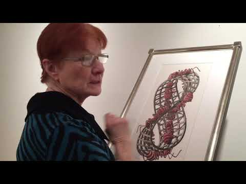 Graphic artist M.C. Escher work at the Museum of Art in DeLand