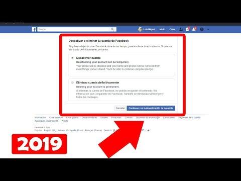Como eliminar cuenta de Facebook para siempre 2020из YouTube · Длительность: 6 мин20 с