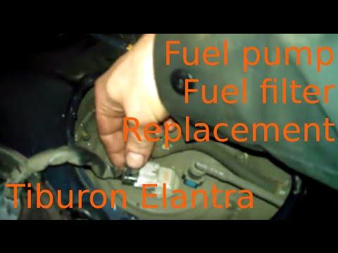 Fuel pump filter replacement 2008 Hyundai Tiburon change Fuel ...