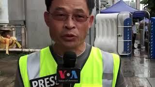 香港831-香港中联办办公室门前戒备森严