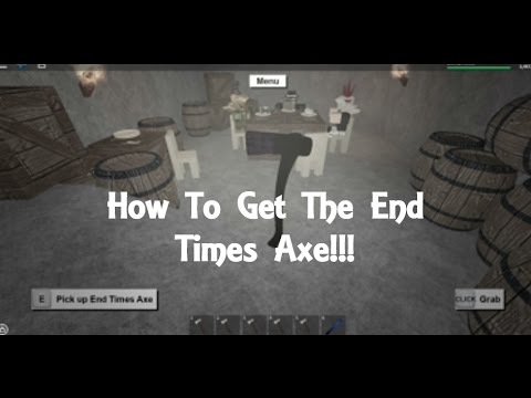 How To Get The End Times Axe! Lumber Tycoon 2 [WORKS ON HALLOWEEN