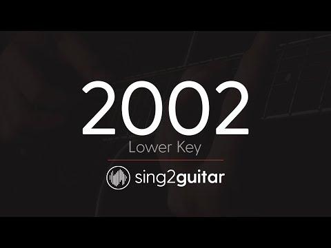 2002 (Lower Key - Acoustic Guitar Karaoke) Anne-Marie