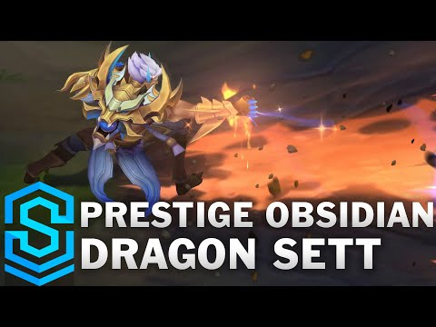 Prestige Obsidian Dragon Sett Skin Spotlight - Pre-Release - League of Legends