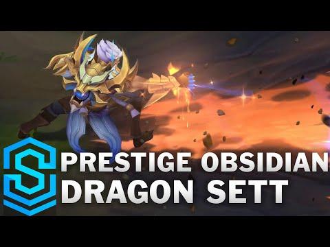 Prestige Obsidian Dragon Sett Skin Spotlight - Pre-Release - League of Legends