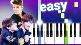 Download Mp3 Nothing Like Us - Justin Bieber, Jungkook & V  100% Easy Piano Tutorial