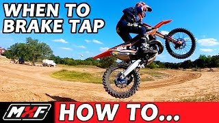 How to Jump a Dirt Bike Better - Learn When to Use a Brake Tap!!