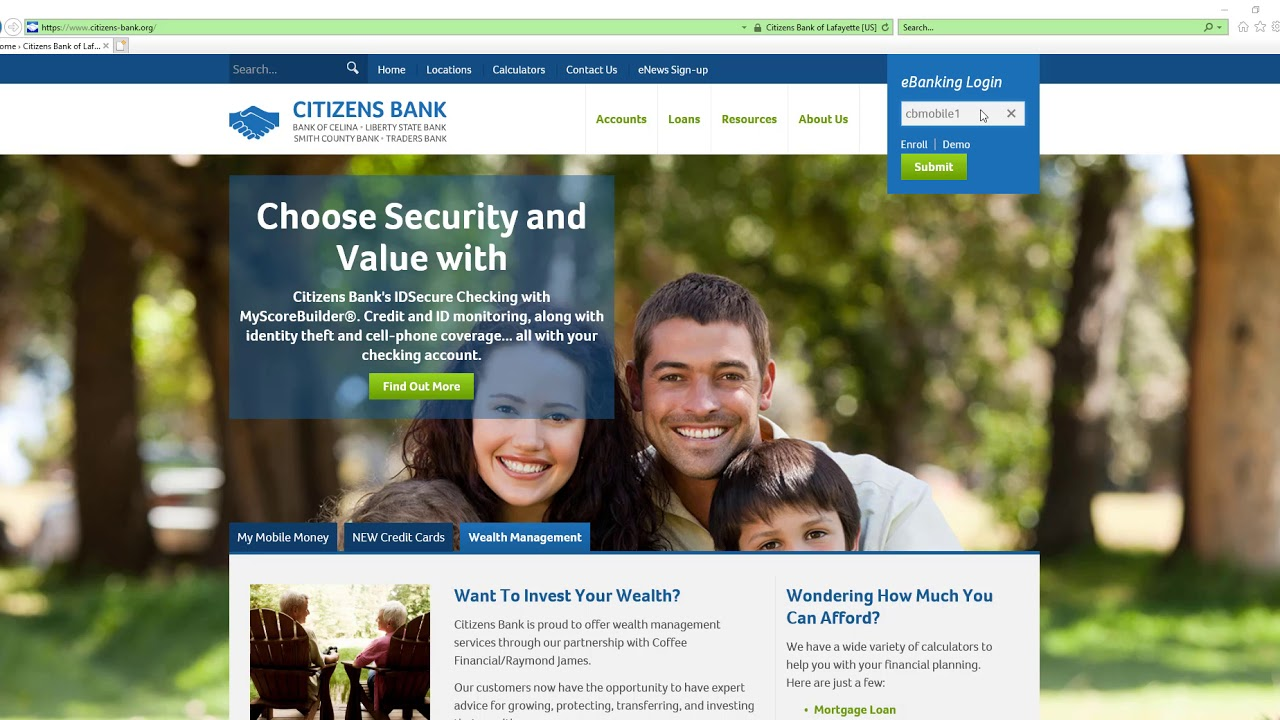 Online & Mobile Banking › Citizens Bank of Lafayette