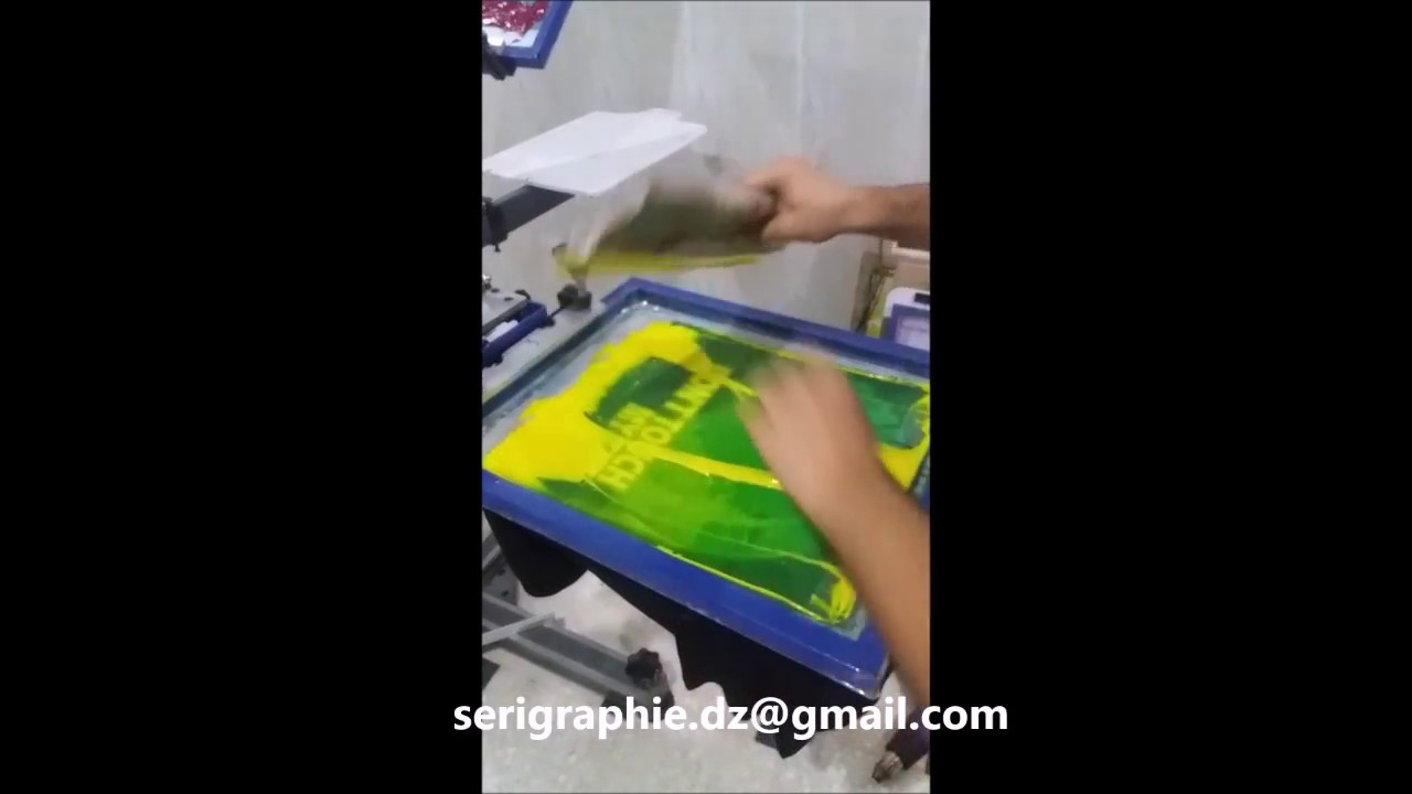 Le t shop making of obsek 4 color process cmyk t shirt youtube - Screen Printing Quadrichromie In Algeria 2017 S Rigraphie