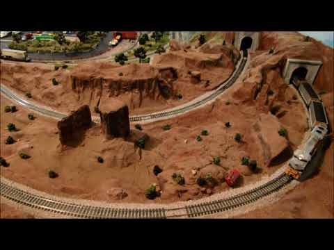 Awsome DCC train Layout with Faller Car System-Colorado