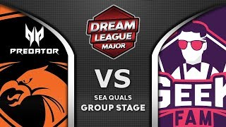 TNC vs Geek Fam Leipzig Major DreamLeague S13 2019 SEA Highlights Dota 2