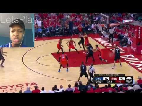 Harden Cooking Oklahoma City Thunder vs Houston Rockets - Highlights Game 1 REACTION