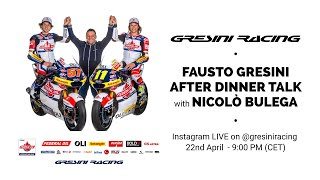 Live from the official instagram channel of @gresiniracing, fausto gresini and nicolò will have a quick chat on 2020 season. stay tuned tonight at 9:00 p...