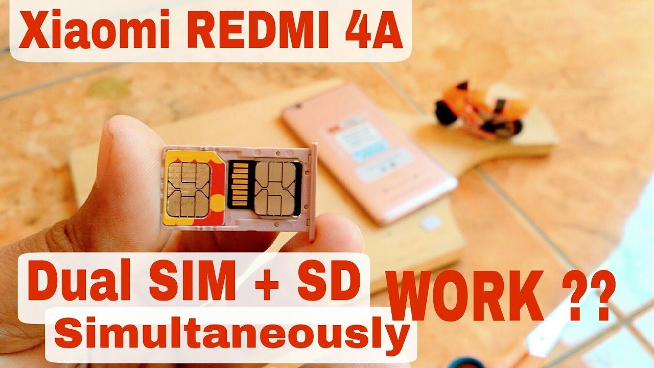 Dual SIM CARD + SD CARD simultaneously On XIAOMI REDMI 4A and BERHASILKAH ?