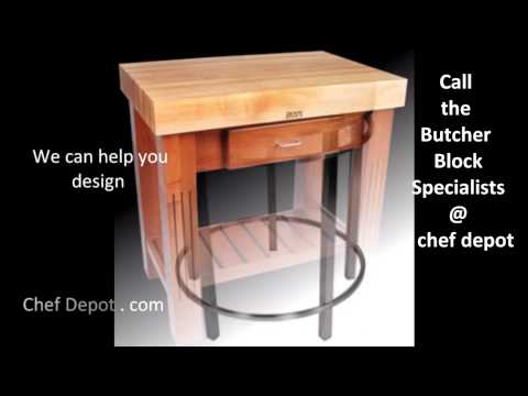 butcher block table stool set