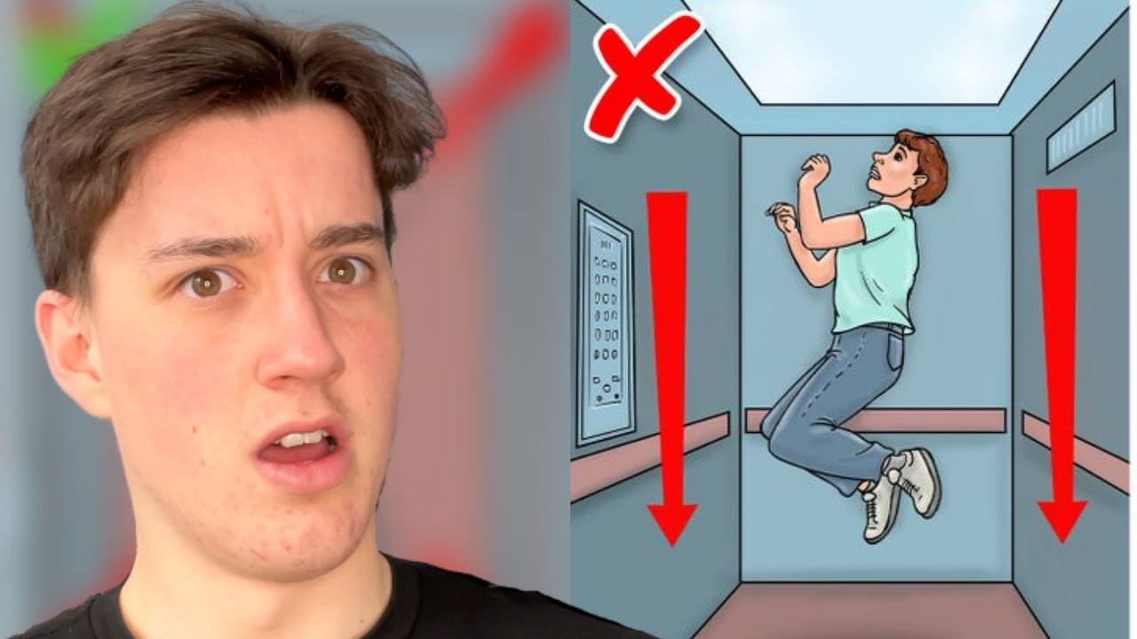 How To Survive A Falling Elevator! #Shorts
