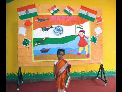 Vkids pre school independence day celebration you also class board decoration on august for home rh decoravanna