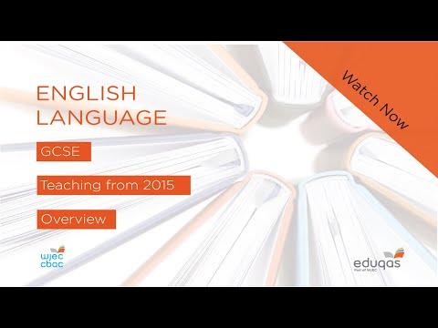 WJEC Eduqas GCSE (9-1) English Language - New Specification from 2015