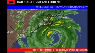 LIVE WEATHER CHANNEL - TRACK HURRICANE FLORENCE!!! WEATHER