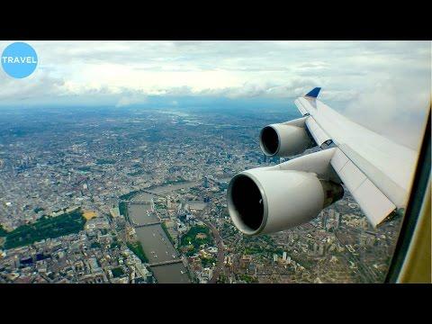 SUPER SCENIC DIVERSION | United 747-400 Landing at London Heathrow + VIEWS!