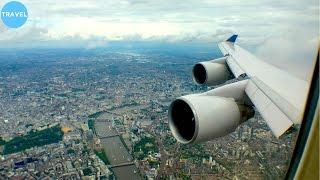 Скачать SUPER SCENIC DIVERSION United 747 400 Landing At London Heathrow VIEWS