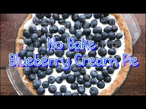 No-Bake Blueberry Cream Pie with Graham Cracker Crust