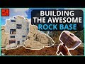 Building The AWESOME ROCK BASE on DAY ONE! Rust Solo Survival Gameplay Ep1