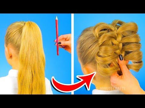 12 CUTE HAIRSTYLES TO BE READY IN ONE MINUTE