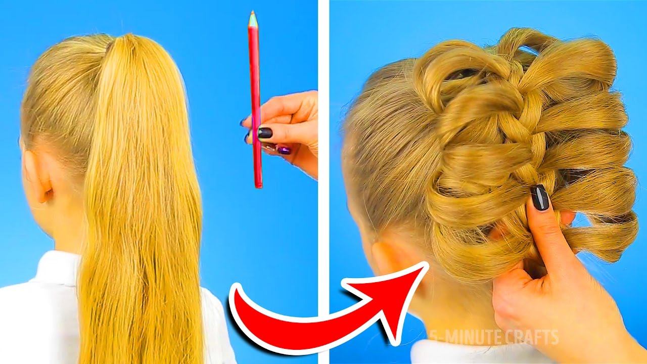 12 Cute Hairstyles To Be Ready In One Minute Youtube