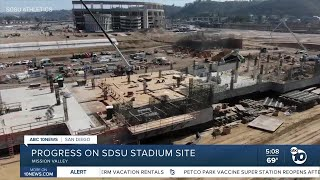 Progress on Aztecs new stadium