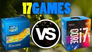 i7-2700k vs i7-7700k | GTX 1070 OC | 1920 x 1080 | in 17 games