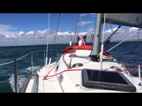 CIBSE 2014 boat race in the Solent on a Sadler 34