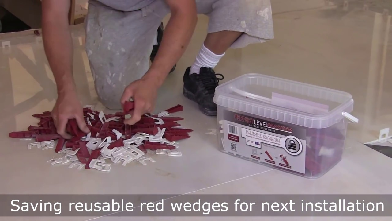 how to prepare floor and tile with t lock tile leveling system by pro