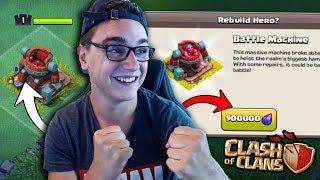 CLASH OF CLANS - JE RECONSTRUIS LA MACHINE DE COMBAT ! LE NOUVEAUX HERO !