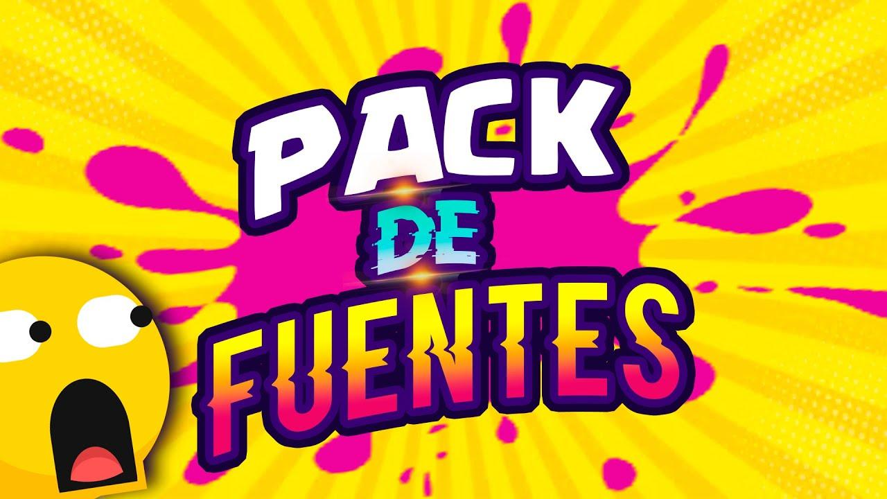 ✅ PACK de FUENTES para YOUTUBERS 2020 (( LETRAS - TIPOGRAFIAS )) para BANNERS y MINIATURAS😱