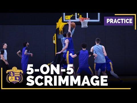 Lakers 5-On-5 Scrimmage Footage: Lonzo Ball, Ingram, Lopez, Nance, Deng
