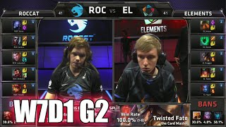 ROCCAT vs Elements | S5 EU LCS Summer 2015 Week 7 Day 1 | ROC vs EL W7D1 G2