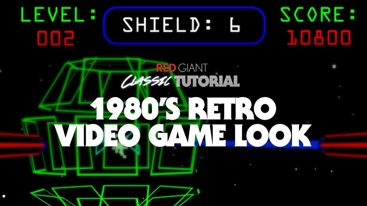 classic tutorial create a 1980s retro video game look