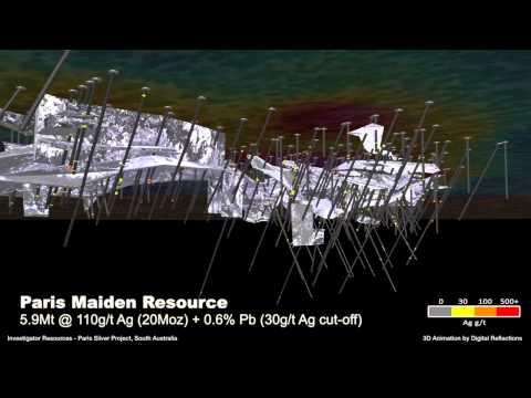 Investigator Resources Paris Silver Project : Animation