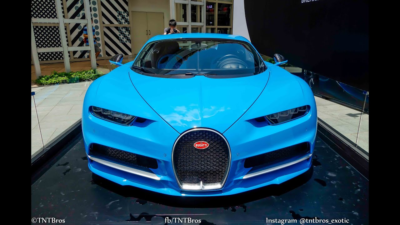 car spotting in singapore bugatti chiron displayed in public during 2016 f1 weekend youtube. Black Bedroom Furniture Sets. Home Design Ideas