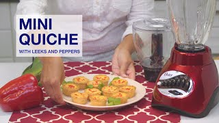 Oster® Precise Blend™ 300 Blender -  Mini Quiche Recipe English
