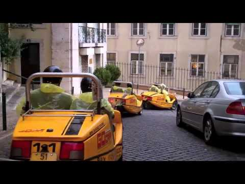 Busy Lisbon streets, small yellow go-karts. What could go wrong?